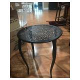 Wrought iron patio table. $30