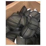 Box of black shoulder pads. $25