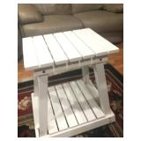 White wood end table. $25