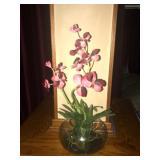 Faux flower vase. $30