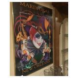 Large Mardi Gras bar poster. $10