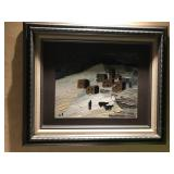 Caucasian Village Picture. Oil.  $175