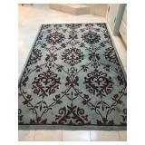 """Woolen rug. 66""""x102"""". $150"""