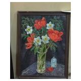 Poppies painting.  Oil. $150