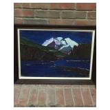 Mountains picture. Oil. $99