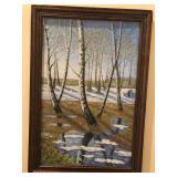 Birches in spring. Oil. $150