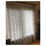 Window curtains with tassels (8).Each $99.