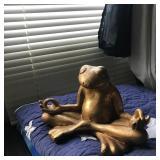Gypsum sitting frog figurine. $29