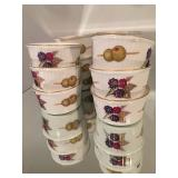 Evesham Royal Worcester, England Custard Cups