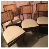 4 Stakmore French Wooden Folding Chairs