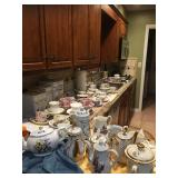 Lots of Tea Cups, Pots, etc