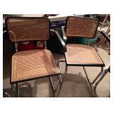 2 Marcel Breuer Cane/Chrome Chairs