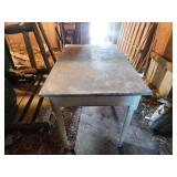 Farm table with metal top