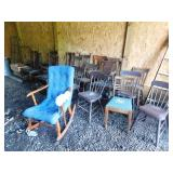 Plank Bottom and T Back Chairs