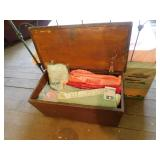 Primitive Box filled with blankets