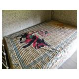 Cool Chenille and other cast iron bed