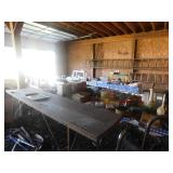 Garage Long Painters Table that folds Up