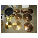 Upstairs 1st Left Bedroom Left: Pearl 5 Drum Set w/10 Cymbals