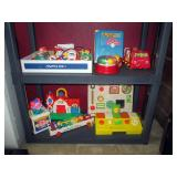 Upstairs 1st Left Bedroom Left: Fisher Price Activ Center, Xylophone, Mattel Jack/Box, Poppins