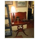 Living Room: Mahogany Game Table