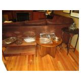 Family Room: Coffee Table, Tables, Silver Plate Platters