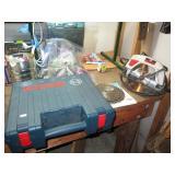 Garage:  Craftsman Saw, Bosch Sabre Saw
