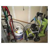 Garage: Ryobi Power Washer, Weed Burner