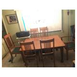 Mission Style Dining Set w/6 Chairs
