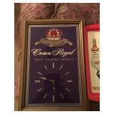 Crown Royal Mirrored Clock