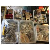 Lots of costume jewelry and miscellaneous watches