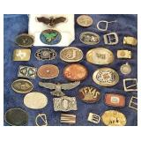 LOTS of Great Belt Buckles and Men