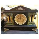 Antique Half Hour Strike Cathedral Mantle Clock