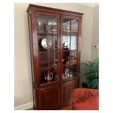 ANTIQUE CHERRY GLASS DOOR CABINET $2500