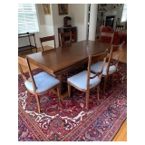 PRETTY NEOCLASSICAL REFRACTORY DINING TABLE AND 6 CHAIRS $2800