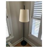 BLACK METAL FLOOR LAMP $175