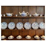 6 EGG CUPS $55, 6 LUNCH PLATES & CUPS & SAUCERS $120