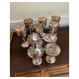 SET OF 12 VINTAGE MEXICO PLATED CHAMPAGNE AND WINE GOBLETS $60