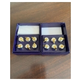 SET OF 12 APPLE PLACE CARD HOLDERS $22