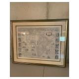 PAIR OF WORLD MAPS 21X25 $120 PAIR