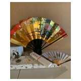 ROOSTER WIND BELL $25  2 FANS $48
