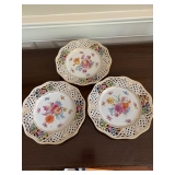 3 DRESDEN RETICULATED PLATES $215