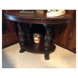 Oval Paw Foot Library Table