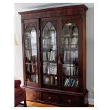 2 Door Mahogany Gothic Bookcase