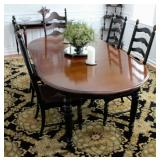 Dining room Set w/7 Ladderback Chairs