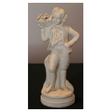 Parian Figure Boy with Fruit Basket