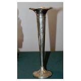 Sterling Trumpet Vase
