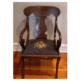 1 of 2 Vict Fiddleback Arm Chairs