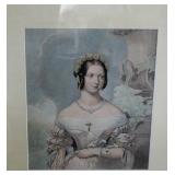 19th C Queen Victorian Print