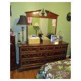 Thomasville Cherry Wood Bedroom Suite with Highboy