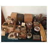 Tea ceremony bowls, ladies & spoons